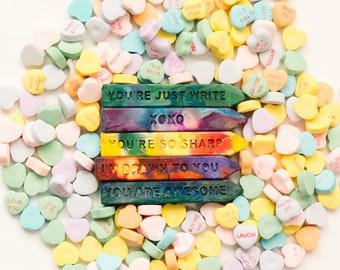 Class Valentines for Kids - Crayon Set - Mini Original Rainbow Crayon® Stix® Valentines Day Favors - Kids Crayons Class Valentines w/card
