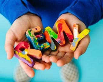 Kids BIRTHDAY Crayons - Crayon Name Set - Custom Alphabet Name Crayons in a Gift Box - Crayon Toy - Birthday Gift Kids - Birthday Gift Kids