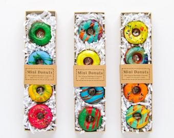 DONUT CRAYONS- Mini Donut Crayon Boxed Set of 4 Original Rainbow Crayons - Donut Crayon Set - Kids Birthday Gift-Kids Easter Basket Gift