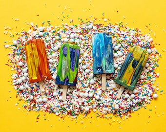 Popsicle Crayons - Kids Crayons - Crayonsicle Original Rainbow Crayon® - Holiday Party Favors - Gift for Kids Popsicle Crayon - Popsicle