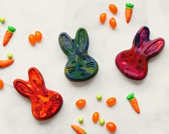 Bunny Crayon Holiday Stocking  Stuffer - Large Scribbler Size Bunny Crayon-Single Bunny Crayon for Kids - Easter Basket Gift - Crayons