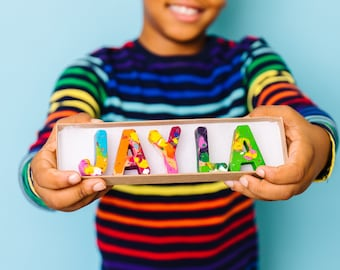 Personalized Name Crayon Stocking Stuffers for Kids - Custom Name Original Rainbow Crayon® Set - Kids Birthday Gift - Valentines Gift Kids