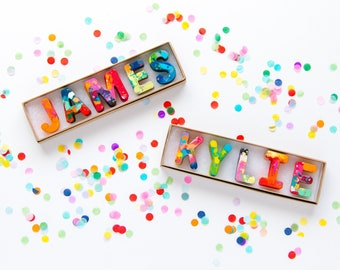 Kids NAME Crayons - Recycled Crayon Set - Custom Alphabet Name Crayons in a Gift Box - Crayon Toy - Christmas Gift -Kids Birthday Gift Boy