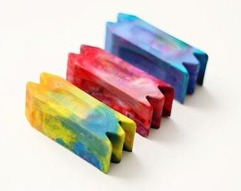 Stocking Stuffer Crayon for Kids 2 Pack - Kids Multi Crayon - Original Rainbow Crayon® Multi Tool Crayon -Set of 2 -Holiday Stocking Stuffer