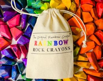 Kids Crayon Stocking Stuffer - Rainbow Rock Original Rainbow Crayons® - Bag of 15 Mini Rainbow Rock Rainbow Crayons -  Kids Christmas Gift
