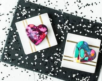 Kids HEART Crayons - Valentines Day Crayons for Kids - Jumbo Original Rainbow Crayon (1 Crayon) - Heart Crayon - Valentines Gift for Kids