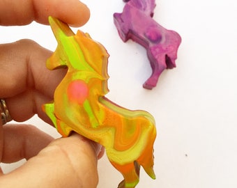 Unicorn Party Favor - Mini Unicorn Original Rainbow Crayons® - Set of 4 Unicorn Crayons in Gift Box - Unicorn Birthday Gift - Unicorn Party