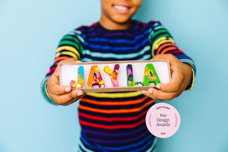Personalized NAME Crayons Kids Gift Crayon Set  Custom image 1