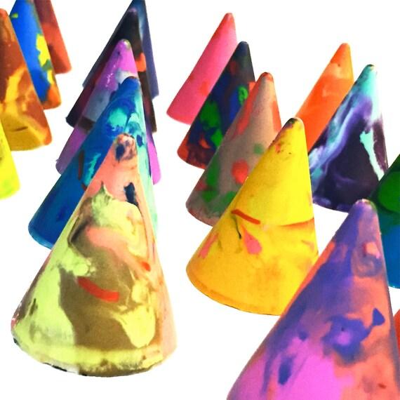 back to school crayon gift original cone rainbow crayons etsy
