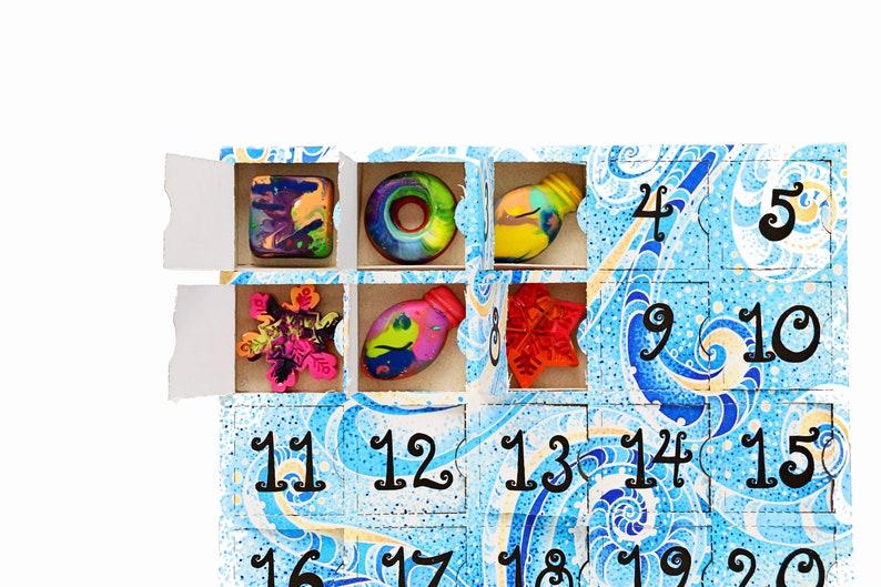 Kids Advent Calendar  Pre-Filled Crayon Advent Calendar for image 1
