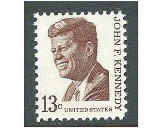 Ten 13c John F Kennedy Stamps 1967 Vintage Unused US Postage Pack Of 10 President Memorial Stamp Boston