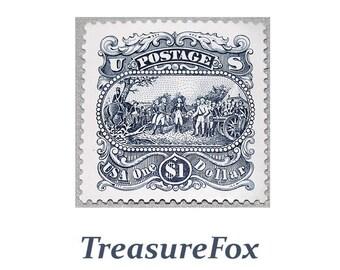 25c Postage Stamps San Francisco Pack Of 10 Vintage Etsy