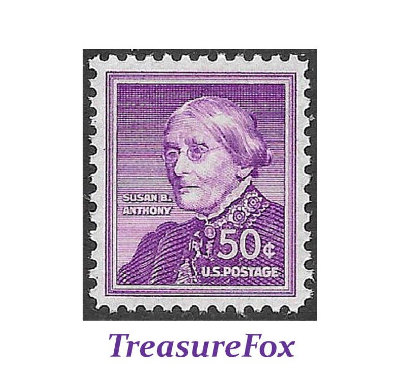 Pack Of 5 Stamps 50c SUSAN B ANTHONY Stamp Issued 1955