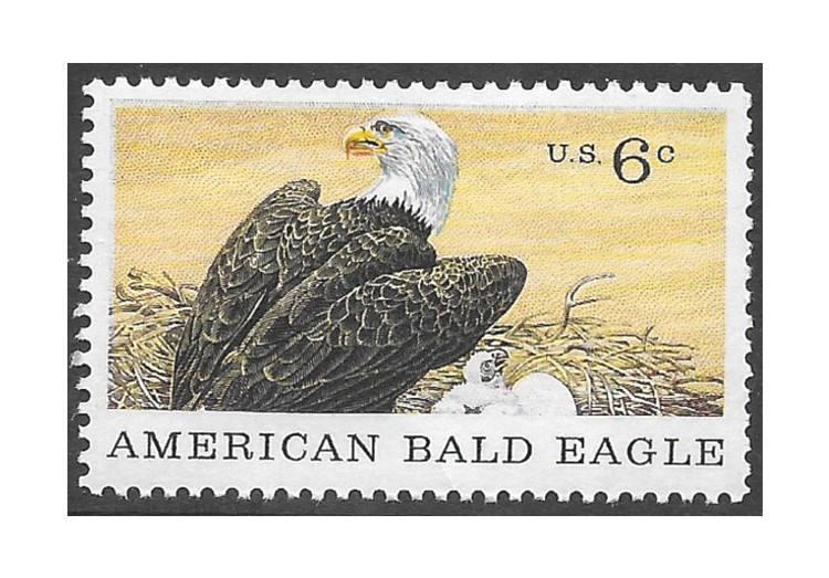 TEN 6c American Bald Eagle Stamps Vintage Unused US Postage