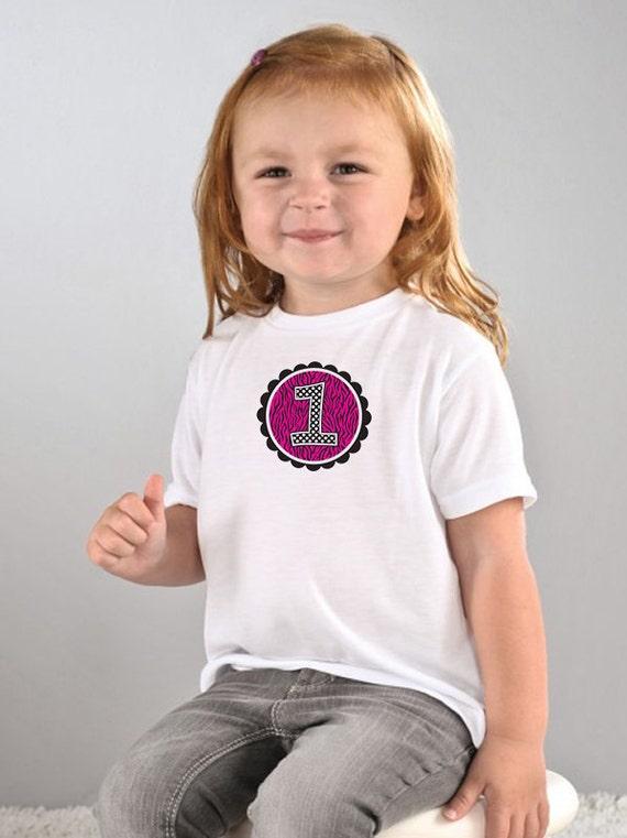 Happy 1st Birthday,  Zebra Shirt, Kids Birthday