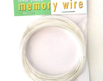 """Memory Wire Silver Plated Stainless Steel 2 1/2"""" Diameter 1 oz for Bracelets"""
