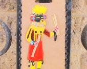 Kachina Doll Red Kilt Runner Luggage Tag