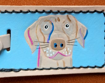 Luggage Tag with Weimaraner