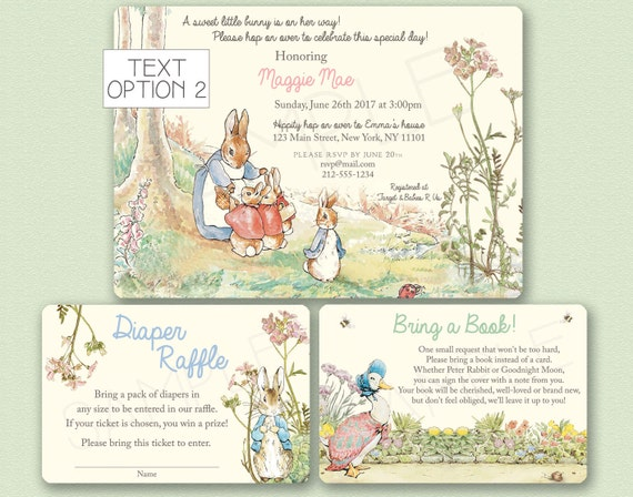Peter Rabbit Baby Shower Invitation Peter Rabbit Invitation Etsy