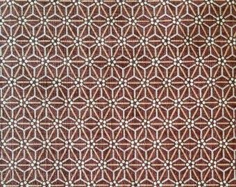 Morikiku Japanese cotton dobby fabric Hemp Leaf Star in mulberry M17000-E3