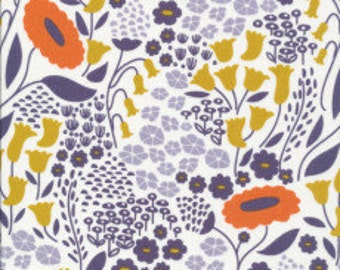 Lushabye blue from Cloud9 Organic Fabrics Morning Song Collection by Elizabeth Olwen