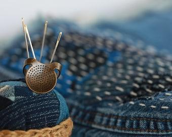 Little House Japanese Sashiko Palm Ring Thimble