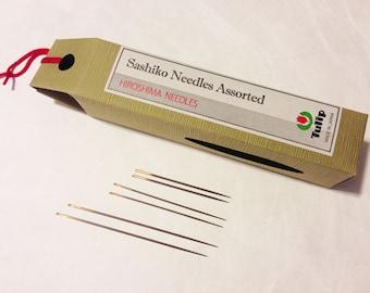 Tulip Sashiko Needles LONG Assortment two each of three sizes THN-030e