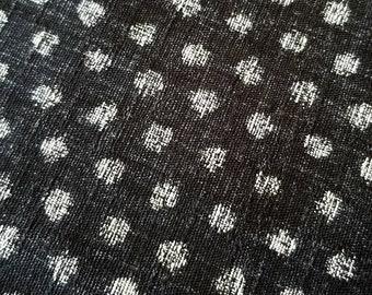 Morikiku Japanese cotton dobby charcoal Black Small Dots M12000-A24