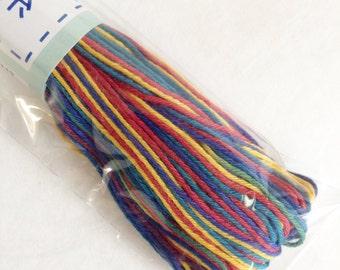 Olympus Color #74 Japanese cotton sashiko thread Variegated RAINBOW 20 meters