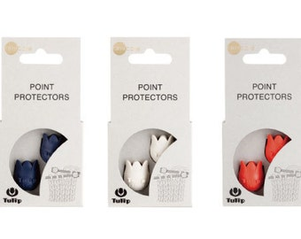 Tulip Point Protectors size large navy, white, or orange Knitting Accessories