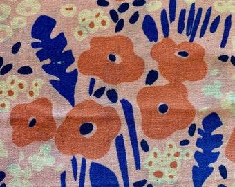 Trèfle Wild Meadow Kokka Japanese cotton lawn fabric YKA-79070-2B pink