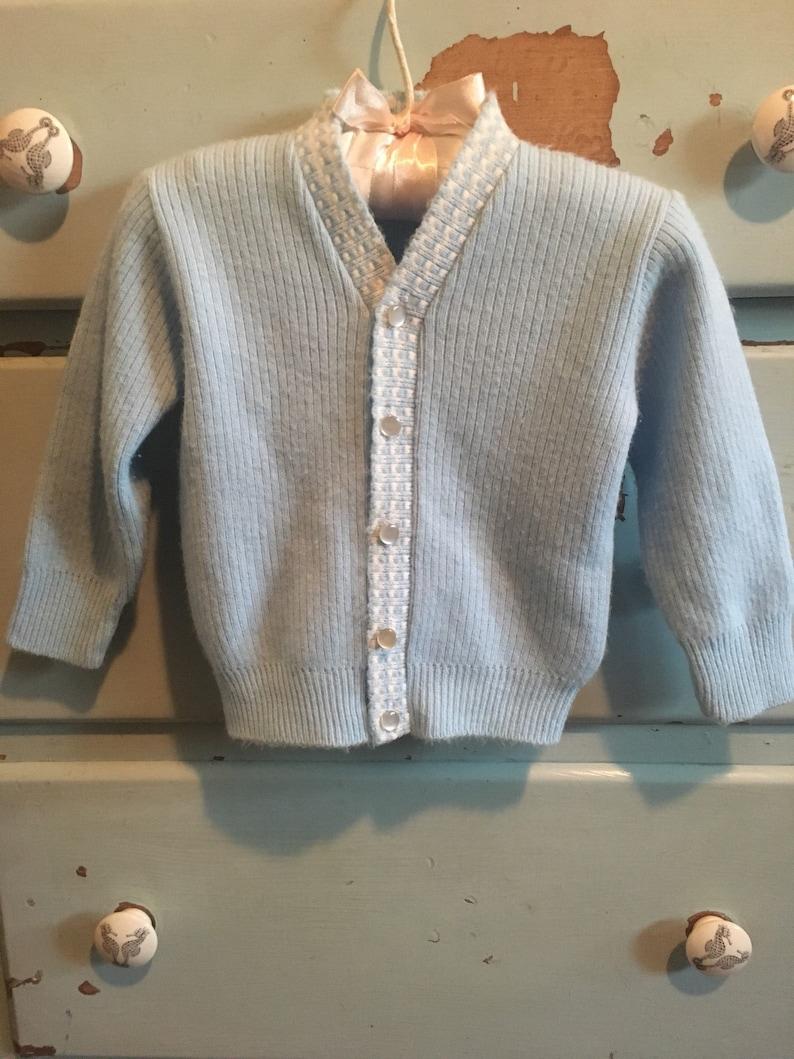 60294e96a 1950 s Blue Bird Boys Sweater Cardigan True Vintage