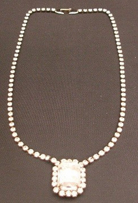 Rhinestone Choker Necklace  Vintage J052 RECENTLY REDUCED