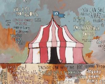 "JDRF (Type 1 Diabetes) ""Under The Big Top"" - Promise Gala 2019 (Art Print) / T1D / Juvenile Diabetes Research Foundation / Circus Tent"