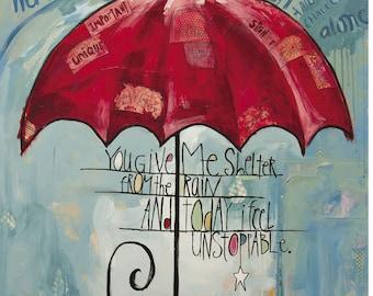 "JDRF (Type 1 Diabetes) ""Shelter"" - Promise Gala 2015 (Art Print) / T1D / Juvenile Diabetes Research Foundation / Umbrella"