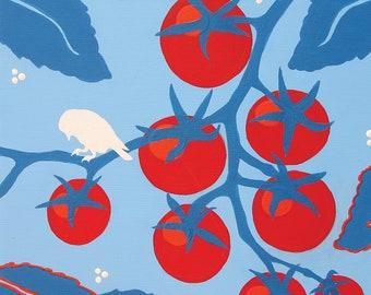 """Bird On A Vine - 11""""x14"""" Fine Art Print by Michelle Grayum"""