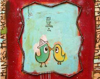 """Lovebirds (Nurture) - 11""""x14"""" Fine Art Print by Aaron + Michelle Grayum / Love / A+M / Valentines / Romantic"""