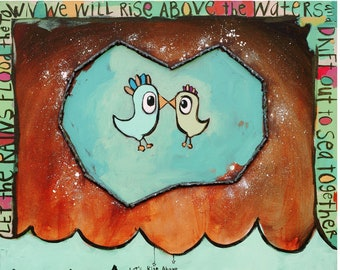 "Lovebirds (Rise Above) - 11""x14"" Fine Art Print by Aaron + Michelle Grayum / Love / A+M / Valentines / Romantic"