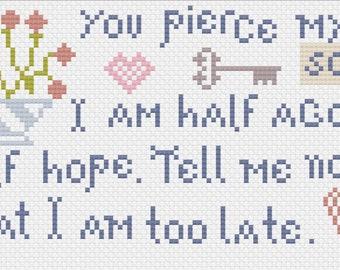 Persuasion Sampler / Jane Austen / Cross Stitch