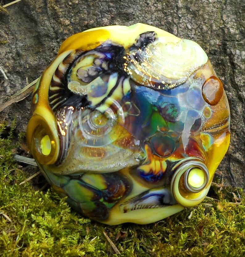 organic lampwork sra lampwork artisan handmade glass bead image 0