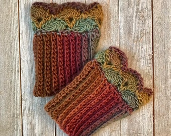 Autumn Forest B Boot Cuffs for Ankle Boots