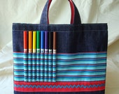 ARTOTE Children's Art Supply Tote in Big Top Blue
