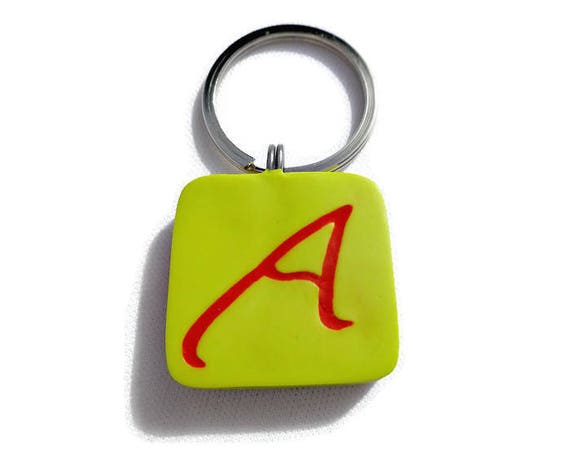 Atheist Symbol Key Ring Atheism Red A Scarlet Letter Polymer Etsy