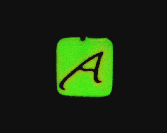 Atheist Symbol Key Ring Glow In The Dark Polymer Clay With Etsy