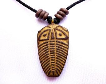 Cute Trilobite Caricature Adjustable Length Necklace