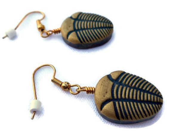 Polymer Clay Trilobite Statement Jewelry Set