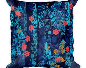 Blue Star Dust Square Pillow