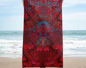 Red Birdmath Towel