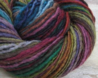Dark Side - handspun self-striping/color-changing wool yarn