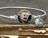 Sterling Silver Photograph Bangle Mimi Gifts, Mimi Bracelet, Christmas Gifts For Grandmother